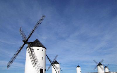 Don Quijote y Molinos de viento